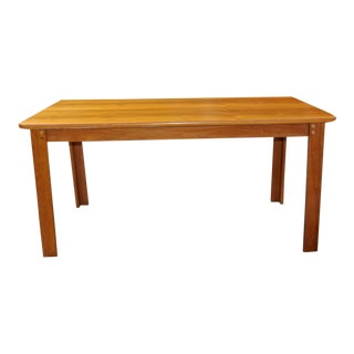 1960s Danish Teak 6 Person Dining Table For Sale