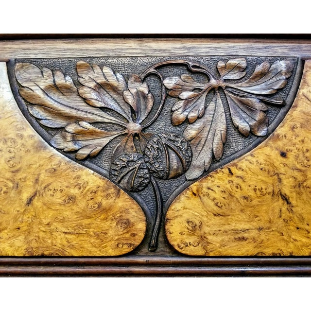 1900s Art Nouveau Gauthier-Poinsignon Ecole Nancy Main Buffet/Sideboard For Sale In San Diego - Image 6 of 13