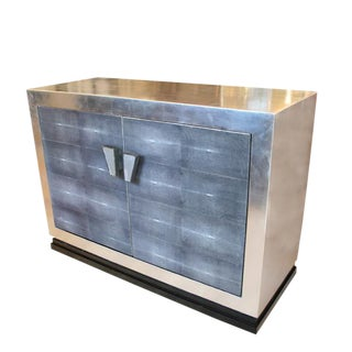 Silver leaf and Galuchat Sideboard For Sale