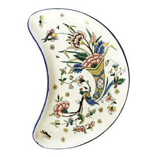 Vintage Gien French Country Ceramic Catchall Dish For Sale