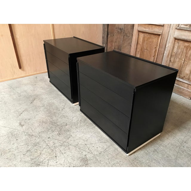 Mid-Century Modern Edward Wormley for Dunbar Ebonized Chests - a Pair For Sale - Image 3 of 10