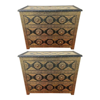 1970s Hollywood Regency Palatial Commodes - a Pair For Sale