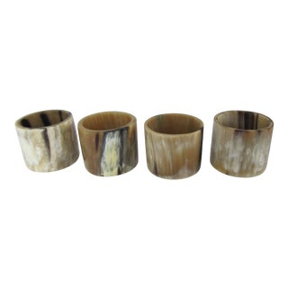 Natural Horn Napkin Rings-4 Pieces For Sale