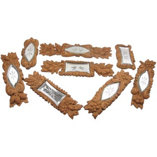 20th Century French Carved Wood Architectural Ornament Sculpture - Set of 8 For Sale