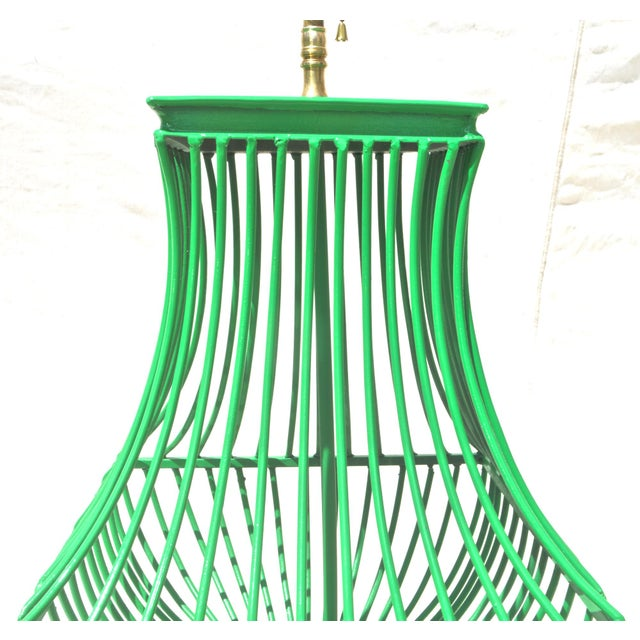 Birdcage Form Lamp in Kelly Green - Image 4 of 8