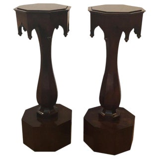 19th Century Walnut Plant Stand Pedestals - a Pair For Sale