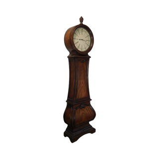 Mahogany Round Face Grandfather Clock For Sale