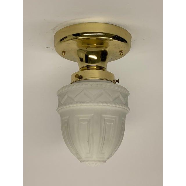 Classical Restored Polished Flush Mount Ceiling Light For Sale - Image 4 of 4