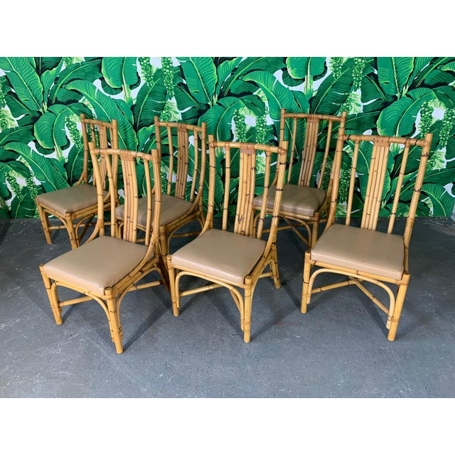 Brown Bentwood Rattan Dining Chairs - Set of 6 For Sale - Image 8 of 8