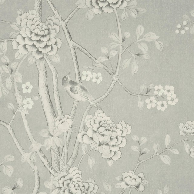 Contemporary Schumacher X Mary McDonald Chinois Palais Wallpaper in Grisaille For Sale - Image 3 of 3