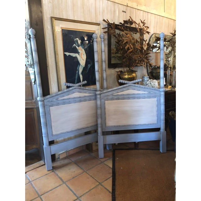 Twin Faux Bamboo Headboards - Pair For Sale In Tampa - Image 6 of 6