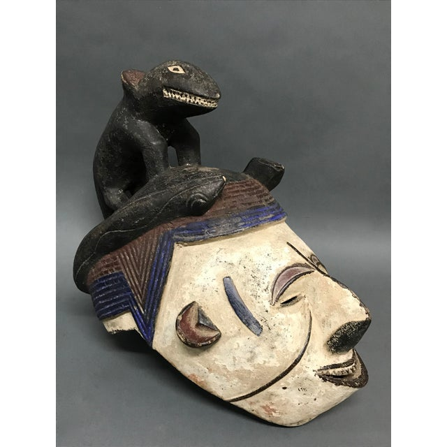 "African Art Tribal Art Igbo Mask AGES: 21st Century MATERIALS: Wood Pigments COUNTRY: Nigeria DIMENSIONS: 16"" High X 8""..."