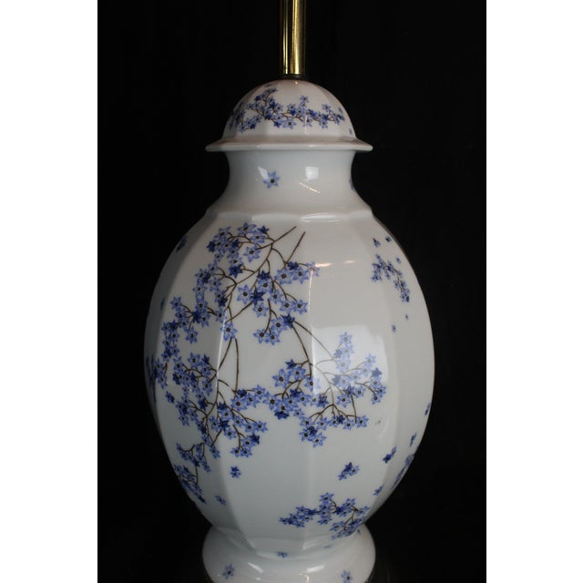 Vintage Chinese Floral Lamp For Sale - Image 10 of 11