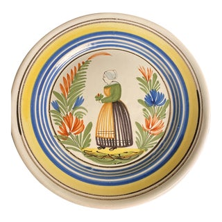 Antique French Faience Plate For Sale