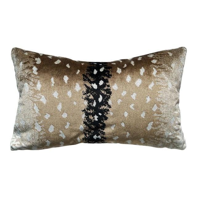 Scalamandre Antelope Lumbar Pillow, Natural For Sale