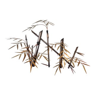 C. Jere Style Metal Faux Bamboo Wall Sculpture