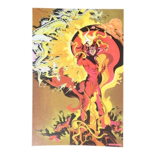 """""""Magestic Mephisto"""", 1987, Signed Lithograph by P. Craig Russell For Sale"""