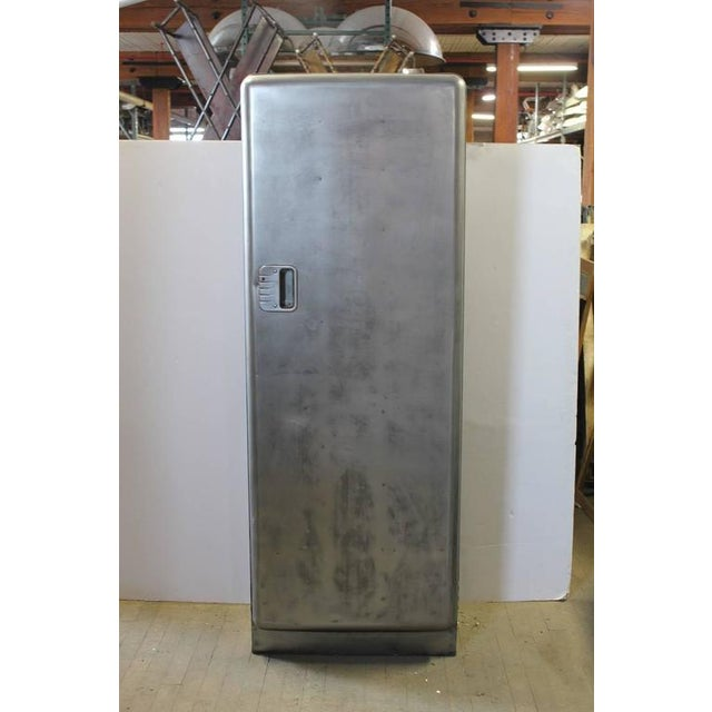 1920s Metal Locker. This piece would be a great addition to a vintage retro garage or retro setting.