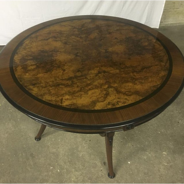 Art Deco Swedish Refined Burl Dining Table For Sale - Image 3 of 5