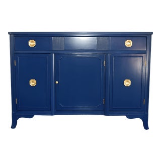 Federalist Navy Blue Sideboard For Sale