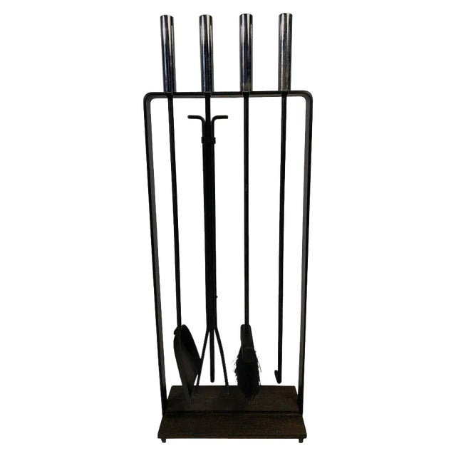 Modernist 1950s Pilgrim Fireplace Tool Set For Sale