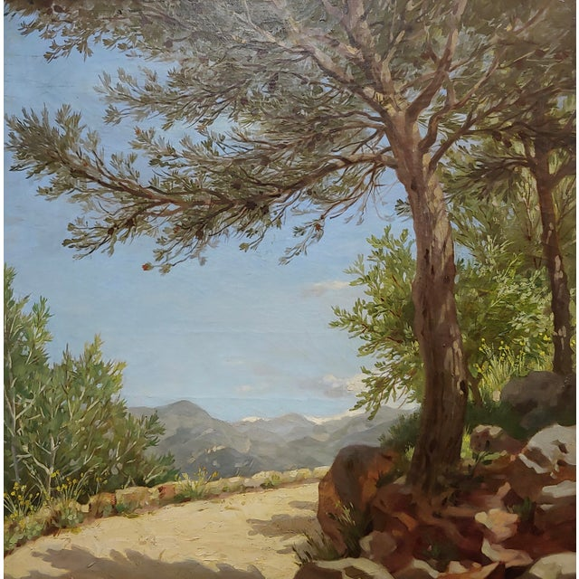 Pierre Adrien Chabal Dussurgey Picturesque Country side Road-Oil Painting-c1860s oil painting on canvas -Signed circa...