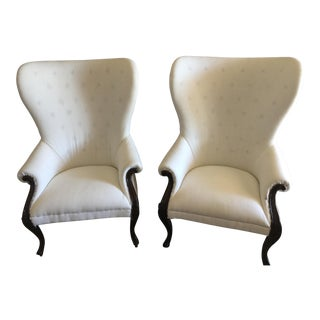 Christopher Guy Wingback Chairs - a Pair For Sale