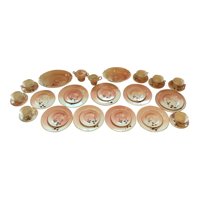Art Deco Syracuse Old Ivory Madam Butterfly Luncheon China - 36 Piece Set For Sale