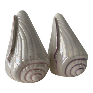 Mid-Century Shell Salt & Pepper Shakers For Sale
