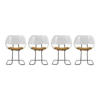Chromed Tubular Steel Chairs - Set of 4 For Sale