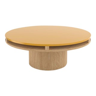 Contemporary 102 Coffee Table in Oak and Yellow by Orphan Work, 2020 For Sale