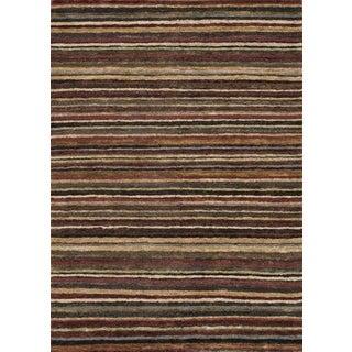 Loloi Zuhrzh Brown Striped Area Rug - 8′8″ × 11′7″ For Sale