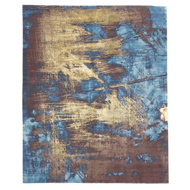 "Contemporary Abstract Scratch Texture Rug - 8'7"" x 9'11"" - Image 1 of 7"