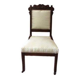 1800's Antique Parlor Chair For Sale