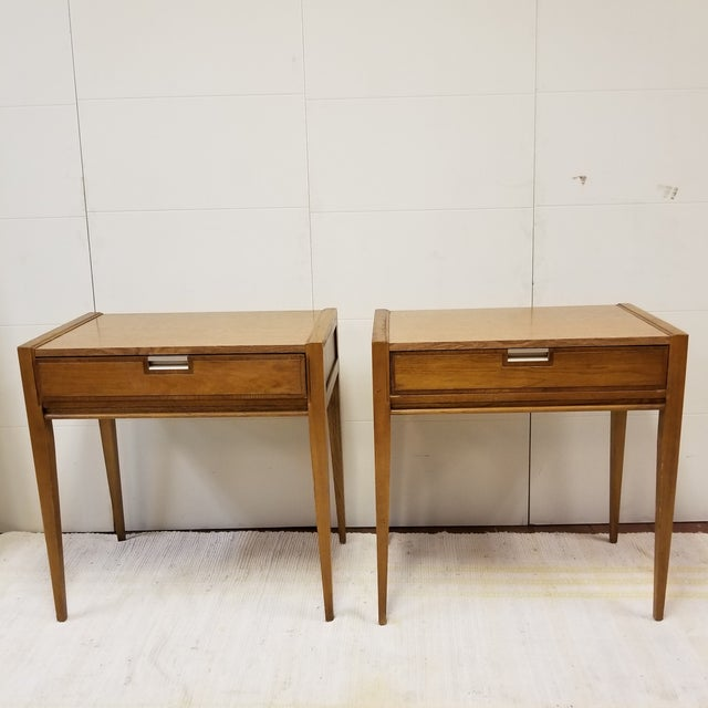 Gorgeous Pair of Basic Witz Walnut Dressing Tables. These beauties can also be used as nightstands or side tables, or...