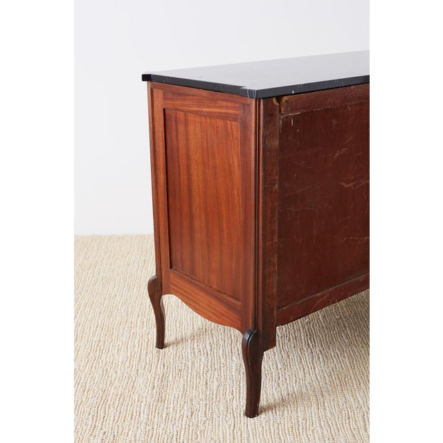 Neoclassical Marble Top Commode Chest of Drawers For Sale - Image 10 of 13