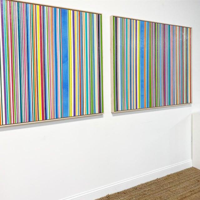 "2020s Exclusive John O'Hara ""Sardinia, 4"" Encaustic Paintings (2-Panel) For Sale - Image 5 of 10"