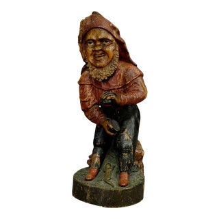 Whimsical Carving of a Dwarf With Snuffbox 19th Century For Sale