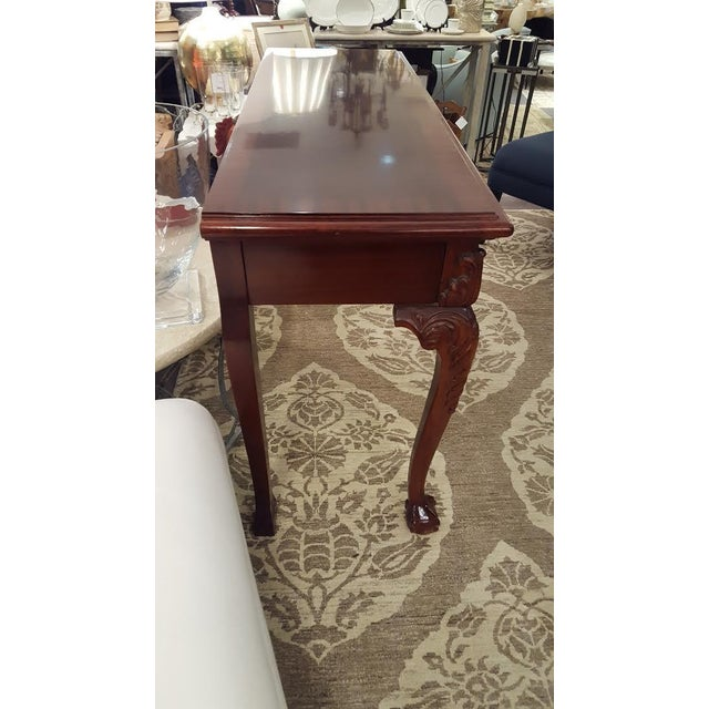 Cherry Wood Console Table - Image 4 of 7