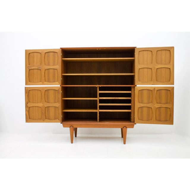 Graphic Teak Highboard by Rastad & Relling for Bahus, Norway 1960s For Sale - Image 6 of 7