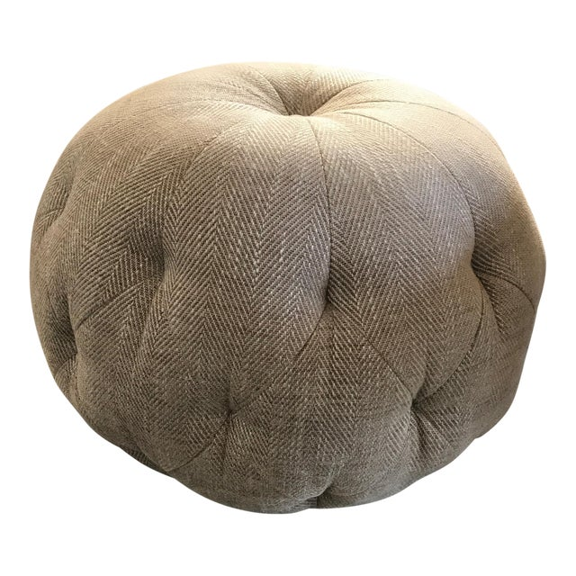 Cisco Home Custom Cashmere Gray Wool Pouf Ottoman - Image 1 of 4