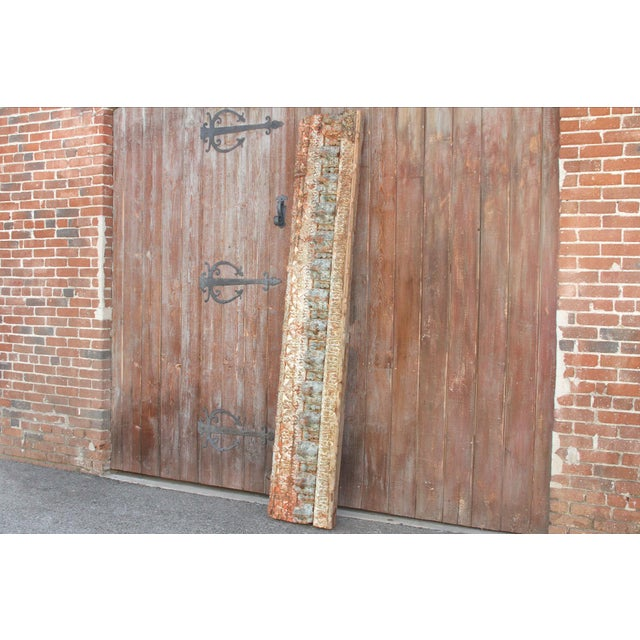 Stunning Tribal Architectural Carved Beam For Sale - Image 4 of 12