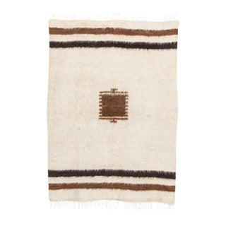 Vintage Turkish Goat Hair Kilim Rug - 4' X 6' For Sale