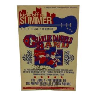 Vintage the Charlie Daniels Band Signed Poster