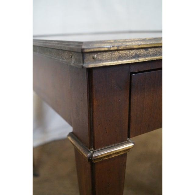 Baker Vintage Walnut Regency Directoire End Table - Image 4 of 10
