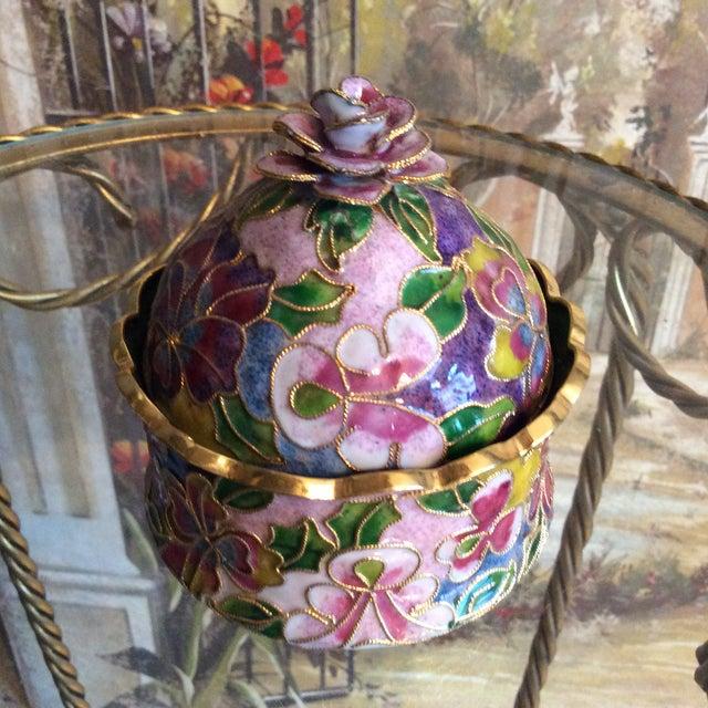 Cloisonné Floral Box - Image 2 of 5