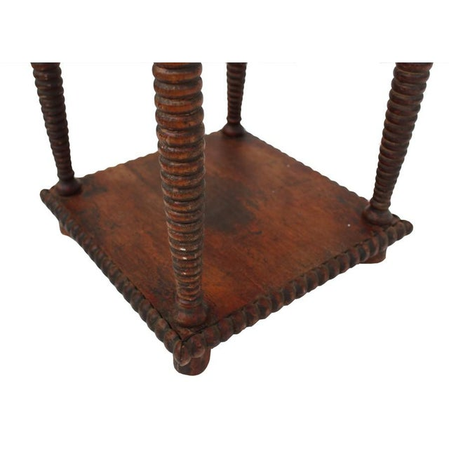 Antique Spindle Leg Side Table For Sale - Image 4 of 4