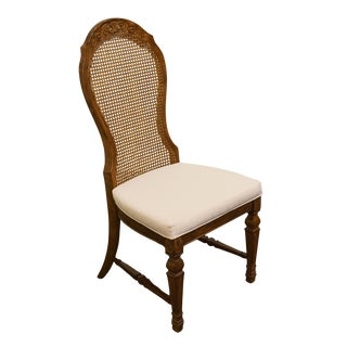Late 20th Century Vintage Universal Furniture Country French Cane Back Dining Side Chair For Sale