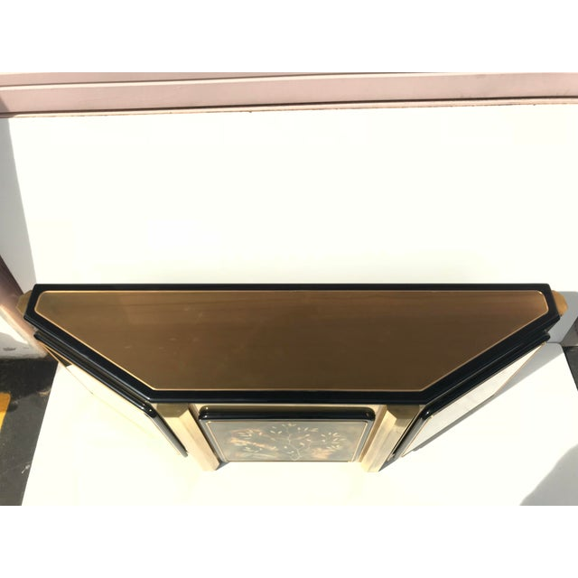 1970s Hollywood Regency Bernhard Rohne for Mastercraft Brass Credenza For Sale - Image 10 of 13
