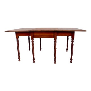 20th Century Traditional Drop Leaf Dining Table For Sale
